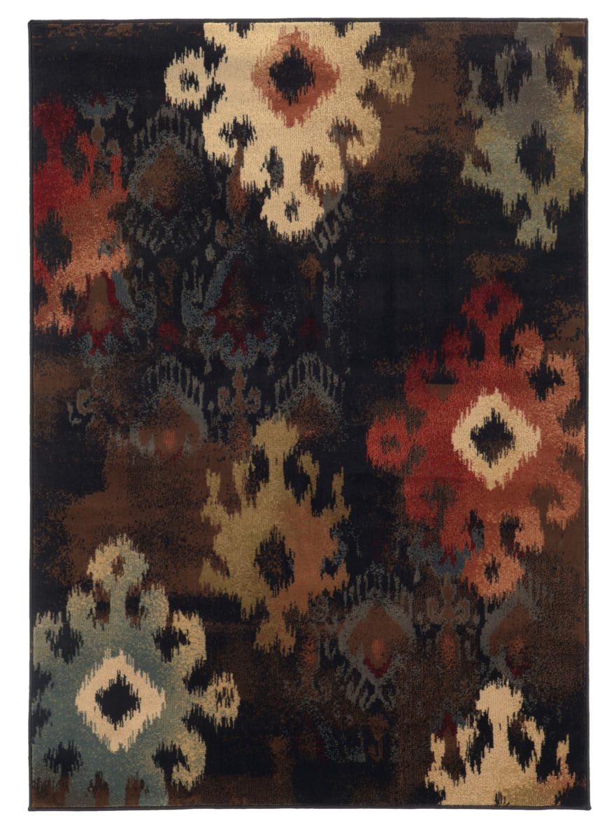 Oriental Weavers Hudson 4874b Black Area Rug 110180