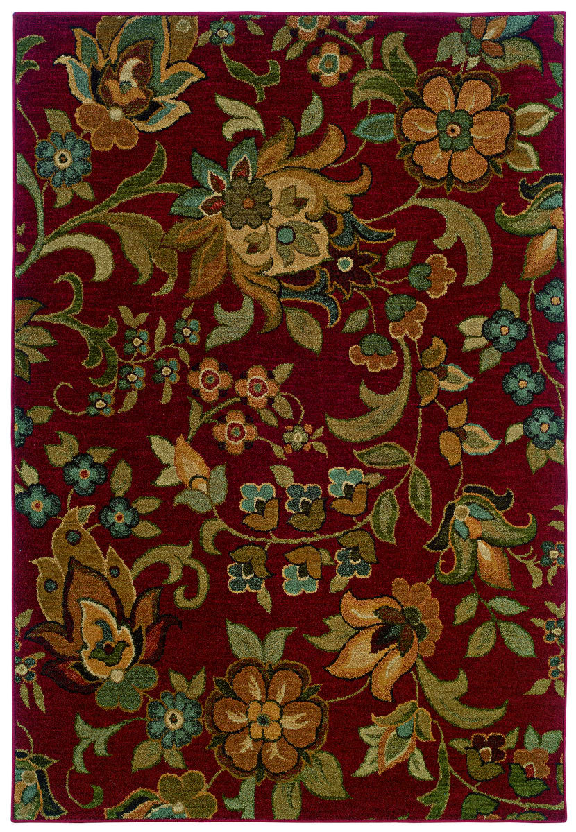 Oriental Weavers Infinity 1105b Red Area Rug Clearance 110202