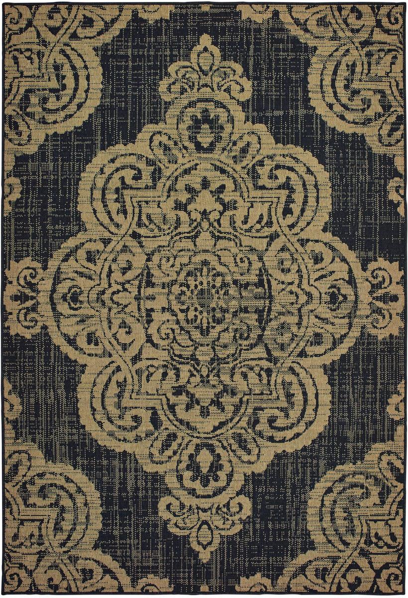 Oriental Weavers Marina 5929k Black Tan Rug Studio