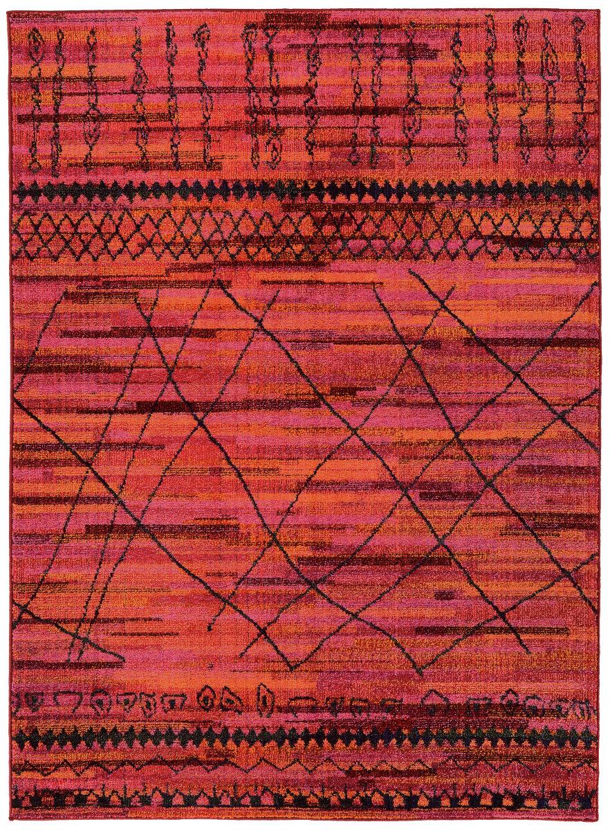 Oriental Weavers Nomad 633r5 Orange Pink Rug Studio