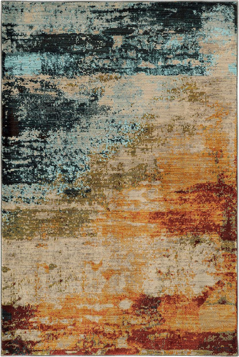 Oriental Weavers Sedona 6365a Blue Rug Studio