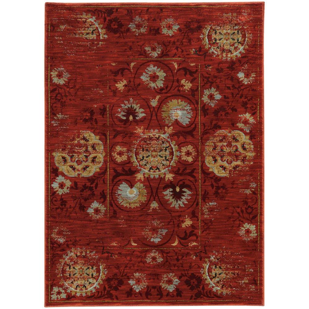 Oriental Weavers Sedona 6386e Red Rug Studio