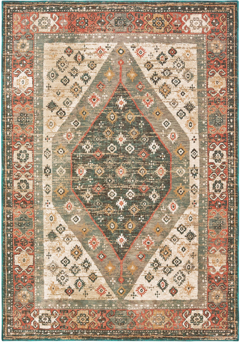 Oriental Weavers Toscana 9545d Orange Blue Rug Studio