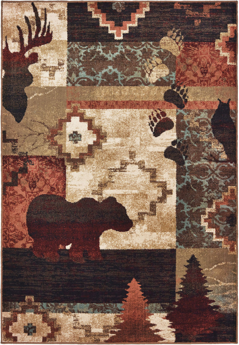 Oriental Weavers Woodlands 9649a Brown Rust Rug Studio