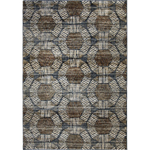 Palmetto Living Adagio Textured Penny Blue Area Rug