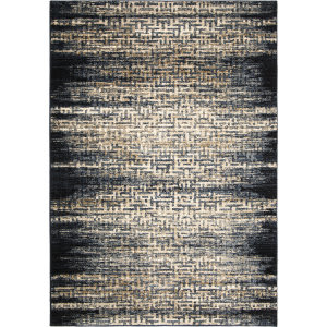 Palmetto Living Adagio 8235 China Key Black Area Rug