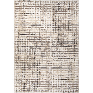 Palmetto Living Adagio 8240 Griddle White Area Rug