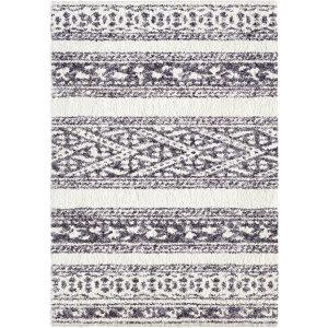 Palmetto Living Cotton Tail Tribal Stripe Grey Area Rug