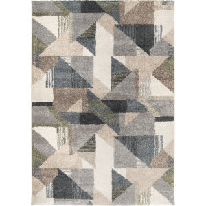 Palmetto Living Mystical 7012 Deco Town Muted Blue Area Rug