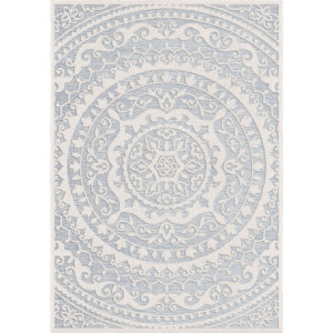 Palmetto Living Socal Living By Jennifer Adams Crius Natural Blue Area Rug