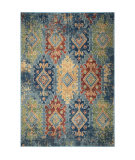 Palmetto Living Alexandria 4513 Distressed Borego Medallion Light Blue Area Rug