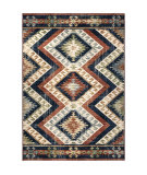 Palmetto Living Alexandria 8901 Kilim Diamonds Faded Red Area Rug