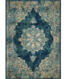 Palmetto Living Alexandria 8910 Distressed Lace Kirman Blue Area Rug