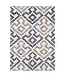 Palmetto Living Cotton Tail JA06 Geo Diamond Blue Natural Area Rug