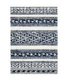 Palmetto Living Cotton Tail JA17 Tribal Stripe Navy Area Rug