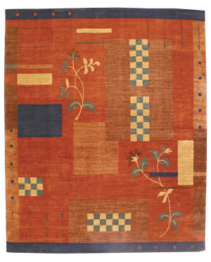 Private Label Oak 148415 Red Area Rug