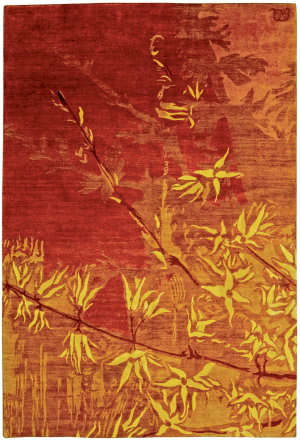 Private Label Oak 148249 Red - Orange Area Rug