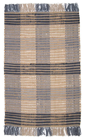 Ragtime Booker Plaid 64479 Denim Area Rug