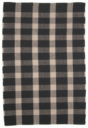 Ragtime Tavern Check 64545 Black Area Rug