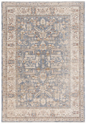 Ralph Lauren Power Loomed Lrl1350m Light Blue - Ivory Area Rug