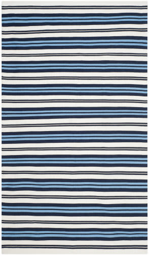 Ralph Lauren Flatweave Lrl2462b White - French Blue Area Rug