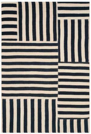 Ralph Lauren Canyon Stripe Patch Rlr2867b Cinder Area Rug