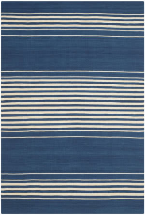 Ralph Lauren Bluff Point Stripe Rlr2869e Pacific Area Rug