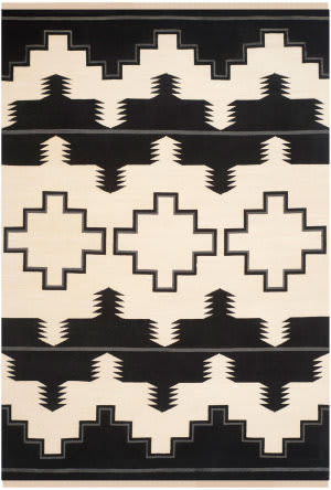 Ralph Lauren Plains Creek Rlr5851c Black - Mountain Area Rug