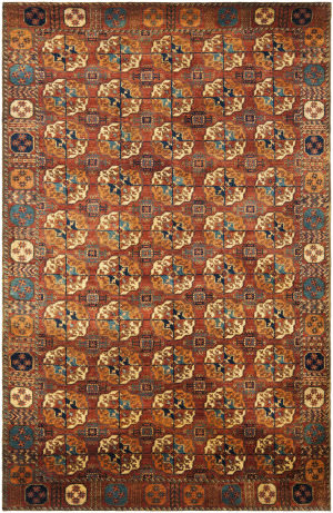 Ralph Lauren Carson RLR6341A Copper / Red Area Rug