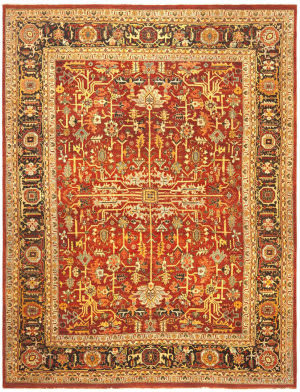 Ralph Lauren Wexford RLR7611A Old Russet Area Rug