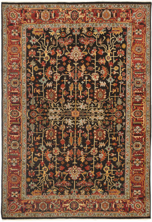 Ralph Lauren Wexford RLR7611B Antique Brown Area Rug