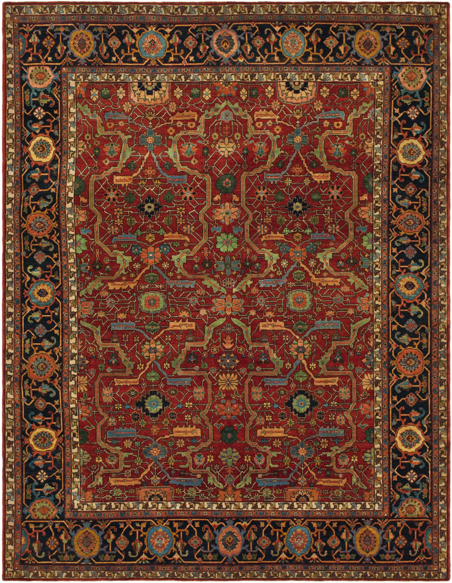 Ralph Lauren Richmond Rlr9551a Vintage Red Area Rug 70531