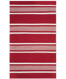 Ralph Lauren Hanover Stripe LRL2461D Red Area Rug