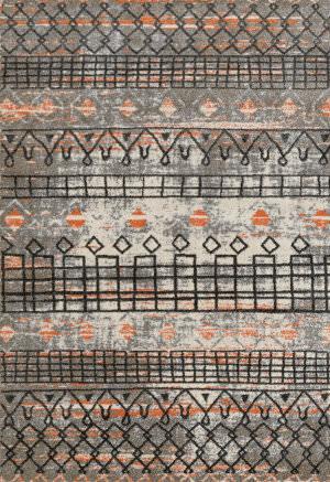 Ramerian Carissa 1800-CAR Gray - Orange Area Rug