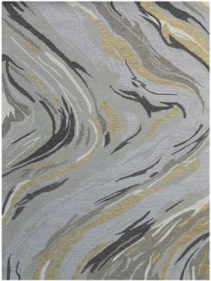 Ramerian Carmella 1200-CRR Platinum Area Rug