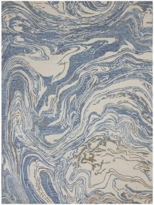 Ramerian Carmella 100-CRR Blue Area Rug