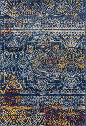 Ramerian Manda 4200-MAN Teal - Blue Area Rug
