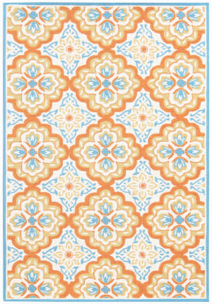 Ramerian Pietra 7200-PAZ Orange Area Rug