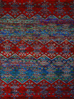 Ramerian Silana 2600-SIL Blue - Red Area Rug