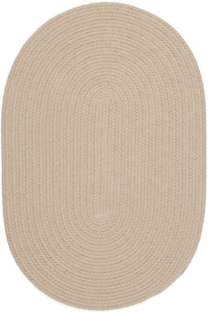 Rhody Rugs Happy Braids Hb03 Solid Sand Beige Area Rug