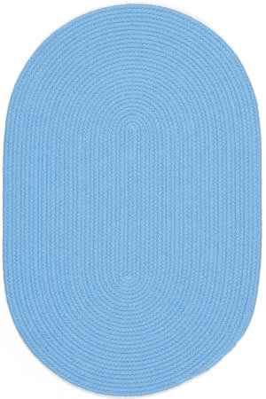 Rhody Rugs Happy Braids Hb07 Solid Aqua Blue Area Rug