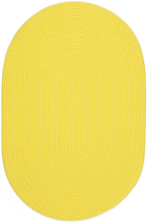 Rhody Rugs Happy Braids Hb14 Solid Yellow Area Rug