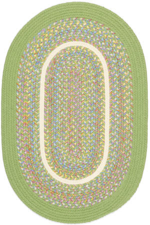Rhody Rugs Kids' Isle Ki44 Lime Area Rug