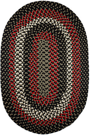 Rhody Rugs Manhattan Ma84 Black Satin Area Rug