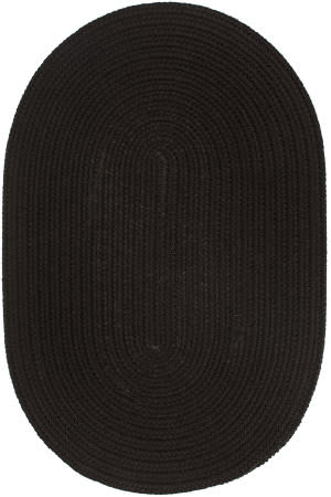 Rhody Rugs Wearever S016 Black Area Rug