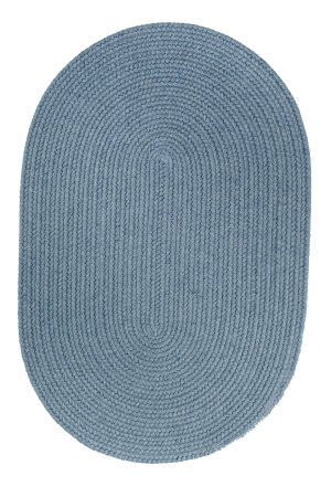 Rhody Rugs Solid S103 Blue Bonnet Area Rug
