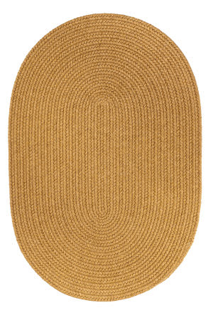 Rhody Rugs Solid S109 Vintage Gold Area Rug