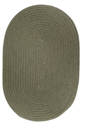 Rhody Rugs Solid S111 Moss Green Area Rug