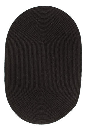 Rhody Rugs Solid S112 Black Area Rug