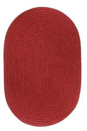 Rhody Rugs Solid S120 Scarlet Area Rug